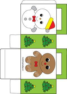 Printable Christmas Box Favor Box