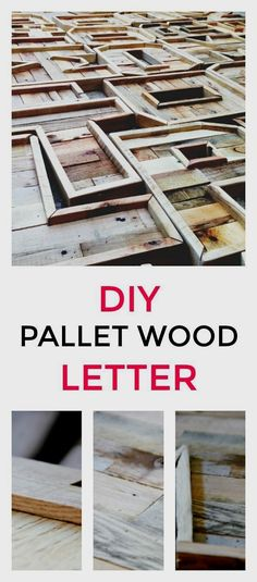 Want a fun vintage DIY project? Follow these step-by-step instructions to make a pallet wood letter perfect for any room in your farmhouse. #pallet #palletwoodprojects #palletwoodart #repurposed #palletwoodrecycling #diyhomedecor #diycrafts #diy