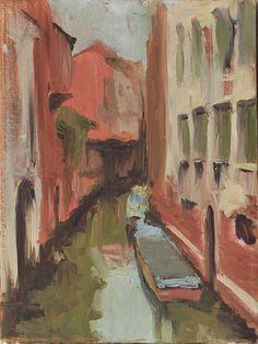 Maciej Baran, Wenecja, kanał przy Calle Sanssoni, 24 x 18 cm