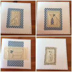 Embroidery and appliqué cards by Plain Dotty