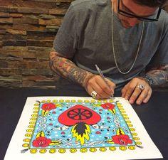 "@ricardocavolo signed his new work for us ""Gipsy Heart"" www.guntergallery... #artprint #silkscreen #arthunter #serigrafia #instaart #art #graphicart #serigraphy #printing #streetart #guntergallery #illustration #screenprint #ilustracion #cosasbonitas #gift #artgift #unique #picoftheday #artshop #dyingart #artlovers #illustrator #decoracion #decoration #artejoven #artcollection"