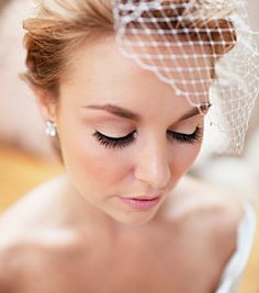 Wedding Makeup Idea, i have a bird cake veil with flowers from my etsy days but I am loving a flower crown idea