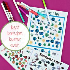 Are you looking for the best boredom buster ever? You've come to the right place. Creative Activities For Kids, Educational Activities For Kids, Creative Kids, Toddler Activities, Learning Activities, Crafts For Kids, Diy Crafts, I Spy, Boredom Busters