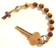 Key ring using 1 Septet of the Anglican Rosary