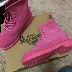 Dr Martens 1460  Pink Size:UK3-UK6 ,Email:wangxia11073@hotmail.com Dr Martens 1460, Dr. Martens, Cherry Red, Timberland Boots, Red Green, Me Too Shoes, Pink, Black, Fashion