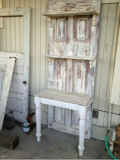 potting bench out of old door!