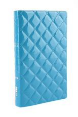 NIV Thinline Quilted Collection Bible, Duo-Tone, Light Blue