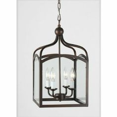 Amazon.com: Aged Copper Lantern Chandelier Pendant Light: Home Improvement