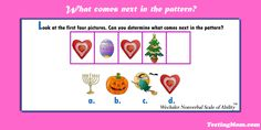 Can your child determine the missing picture in this pattern? #WNV #practice