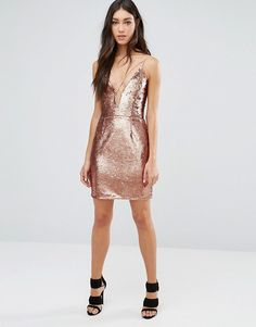 Buy Daisy Street Sequin Dress With Plunge Neck at ASOS. Get the latest trends with ASOS now. Asos Sequin Dress, Bodycon Dress, Daisy, Sequins, Street, Clothes, Shopping, Dresses, Fashion