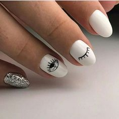 49 classy and stylish short nail art designs short nail designs short nail designs 2019 nail designs for short nails 2019 nail designs for short nails pictures short nails acrylic nice short nails short clear nails elegant short nail art design Stylish Nails, Trendy Nails, Evil Eye Nails, Nagellack Design, Round Nails, Cute Acrylic Nails, Glitter Nails, Gold Nail, Dream Nails