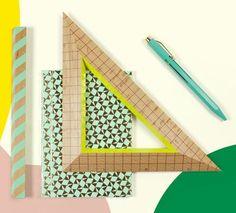 #schreibwaren #papierwaren #stationary #papeterie #4colourballpen #notebook #woodruler #mintgreen (at sous-bois)