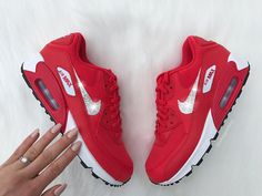 991c15a88b7 Swarovski Nike Air Max 90 Premium Shoes Blinged Out With Swarovski Crystals  Bling Nike Shoes