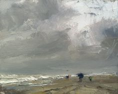 This is a Feed from Rosepleinair.com - Blogpost: Seascape Pleinair Rain and Umbrella I was painting with friends here when it got real nasty. Rain, heavier winds, they went for shelter, but somehow I
