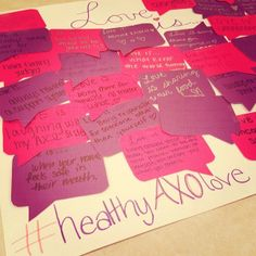 Changing the conversation about what love means! #healthyAXOlove #teenDVmonth #RespectWeek2014
