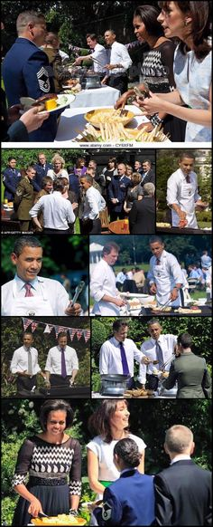 Master Of The US President Barack Obama and Visits The May 2011 and U. President Barack Obama serve food to a member of the during a barbecue in the garden of 10 Downing Street on May 2011 in Black Presidents, Greatest Presidents, First Black President, Former President, Barack Obama, El Pres, Malia And Sasha, Online Psychic, Beautiful Evening Gowns
