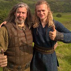#Vikings Season 4 Edvin Endre aka Erlendur with Viking extra. Instagram.
