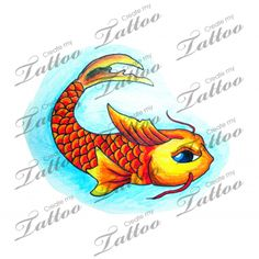 Marketplace Tattoo Koi fish #21088 | CreateMyTattoo.com