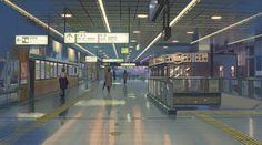 15:35:23 JR小山駅 新幹線改札への通路 第1話、待合広場のカットの次に出て来るカット。 西口改札の手前辺りから新幹線改札方向を見た風景。 2012年10月現在、駅構内改修により、案内板が若干変わっている。また、画像左奥に見える店舗スペースは撤去され、工事中となっていた。