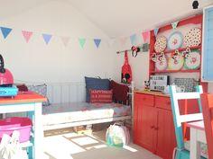 Beach Hut Decor Ideas: Mood Board for Mickey and Minnie Beach Huts Beach Hut Decor, Beach Huts, Toddler Bed, Decor Ideas, Interiors, Mood, The Originals, Create, Inspiration