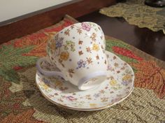 Foley Bone China England Tea Cup and Saucer by AntiquesandCoinsJL