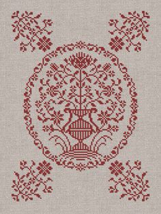A Georgian Bouquet Cross Stitch Pattern Instant von modernfolk