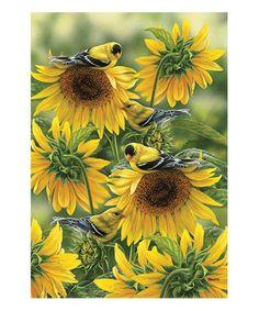 Look at this #zulilyfind! 'Welcome' Sunflowers Garden Flag #zulilyfinds