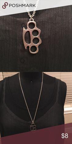 Silver knuckle necklace Silver knuckle necklace Jewelry Necklaces