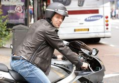 Motorcycle Jacket, Bomber Jacket, Riding Helmets, Leather Pants, Sexy, Jackets, Handsome Guys, Motto, Film
