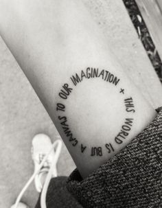 """This world is but a canvas to our imagination"" #tattoo #ink"