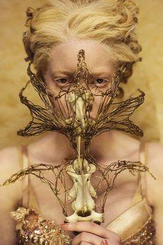 fashion, style, albino, model, blonde, golden, gold, editorial, photoshoot