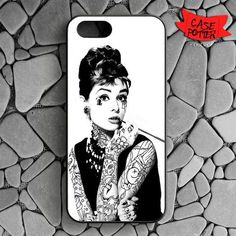 Audrey Hepburn Tattoed iPhone SE Black Case