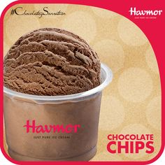 When the smooth chocolate Ice cream melts in your mouth, be delighted with the playful bits of chocolate chips with every scoop.