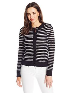 Pendleton Womens Kenna Cardigan Sweater BlackIvory Large >>> Find out more about the great product at the image link.