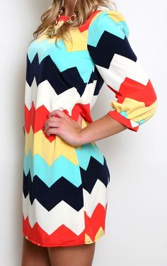 These COLORS!!! Ok, so I am kinds getting sick and tired of all this chevron, but this is adorb!