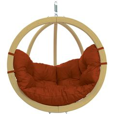Discover the Globo Swing Chair a perfect addition to your home.   http://hammocktown.com/products/globo-swing-chair-terracota-red-with-soft-cushion