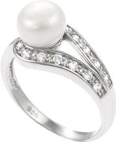 #wayfair.com              #ring                     #Skyline #Silver #Sterling #Silver #Ring #with #Pearl #Accents                Skyline Silver Sterling Silver Ring with Pearl and CZ Accents                                           http://www.seapai.com/product.aspx?PID=970118