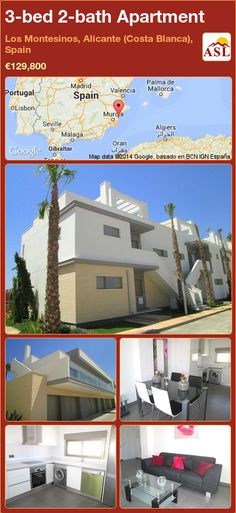3-bed 2-bath Apartment in Los Montesinos, Alicante (Costa Blanca), Spain ►€129,800 #PropertyForSaleInSpain