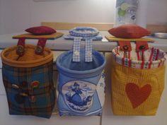 søppelpose, nålepute, quilt, stoffpose, syromtilbehør, søppelpose i stoff. Her har vi sydd en hver.