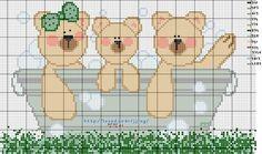 Bears in tub Karilla e o Ponto Cruz: Gráficos.
