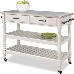 white savannah kitchen cart - Google Search