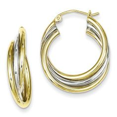 Sterling Silver Gold Plated Hoop Earrings Jewelry Adviser Hoop Earrings. $36.98. Save 60% Off!
