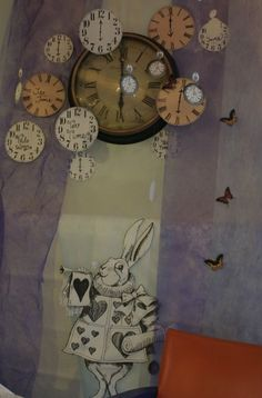 """""""I'm late, I'm late... for a very important date!"""" #clocks #rabbit #AliceInWonderland"""