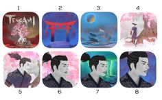Here is a selection of possible App Store icons for Tengami. Let us know in the comments which number you like best and help us decide which design to use. Thanks!