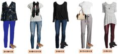 Check out this JCPenney capsule wardrobe that works great in the winter but will also easily transition to spring. 15 mix