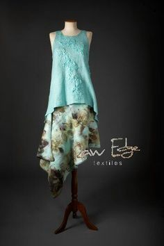 Wow this is a gorgeous example of nuno felting. rawedgetextiles.com