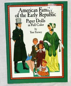 Vintage American Family of the Early Republic, Paper Dolls in Full Color on Etsy, $6.50