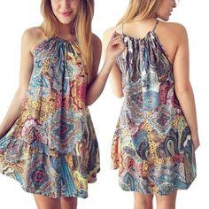 Boho style 301670875030330230 - Boho Style Halter Pleated Casual Mini Dress Source by annettelblanche Boho Style Dresses, Casual Dresses, Fashion Dresses, Formal Dresses, Evening Dresses, Summer Dresses, Mini Dresses, Beach Dresses, Boho Stil