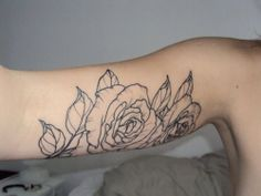 Outline of Rose Tattoo / Inner Arm Love the placement