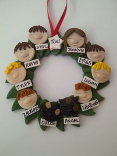 Personalized Christmas Family Ornament Family of 5  7 by lamira, $9.00